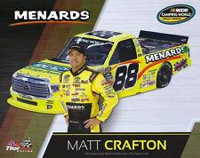 """2016 MATT CRAFTON """"IDEAL DOOR / MENARDS"""" #88 NASCAR CAMPING WORLD TRUCK POSTCARD"""