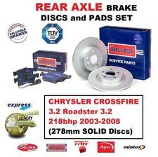 Pour Chrysler Crossfire 3.2 Roadster 3.2 2003-2008 Plaquette Frein Arrière +