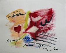 Lia de Fontenelle acrylique sur papier signée en bas à droite 29,5 x 40,5 cm