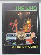 The Who Official Program ~ 1982 Tour Schlitz Rocks America ~ Candid Litho
