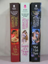 The Last Man Standing (Bks 1,2,3) by Victoria Alexander (PBOs,3 1st eds), Wicked