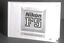 Nikon Genuine F5 Camera User Guide / Manual / Instruction Book