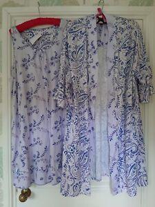 Carole Hochman Printed Kimono & Chemise Set Size XL Purple