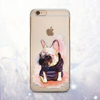 Cute Puppy Dog Pug Silicone iPhone 12 Pro XS XR Case Cover iPhone 8 7 6s X 11 SE