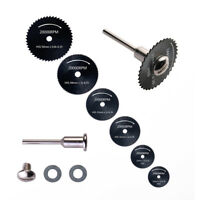 7PCS Cutting Discs Mandrel HSS Rotary Cutoff Circular Saw Blades Tool Accessory