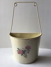 Flower Floral Planter Basket Holder Metal Wall Hanging Plant Pot Garden Gift