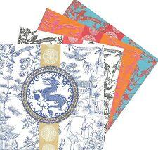 2 Serviettes en papier Asie Dragon Paper Napkins Asian Chinese Dragon Toile