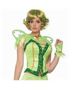 Adult Women's Teens Tinkerbell Enchanted Fairy Green Pixie Capelet Costume Cape