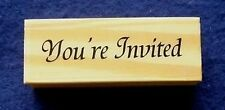 You`re Invited Mounted Polymer Stamp