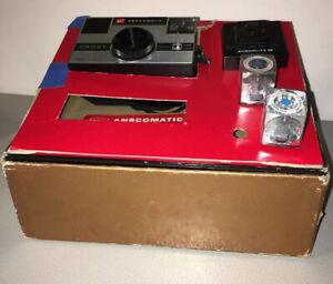 VINTAGE GAF ANSCOMATIC CADET CAMERA KIT WITH BOX FILM FLASHBULB 1960s