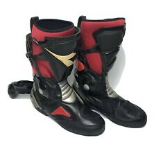 Diadora Men's Red & Black Leather Motorcycle Safety Riding Boots UK12 | CHEAP