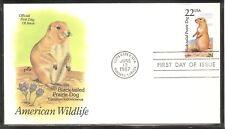 Us Sc # 2317 American wild Life - Black tailed prairie Dog - Fdc . Artcraft