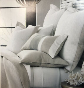 Hotel Collection 100% Linen Queen Natural White Pre Wash Flat Sheet New With Tag