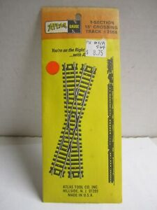 ATLAS 2564 15 DEGREE CROSSING TRACK NEW OLD STOCK N CODE 80 CROSSOVER