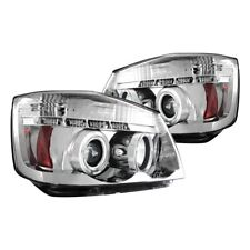 For Nissan Titan 04-13 IPCW Chrome Halo Projector Headlights w Parking LEDs