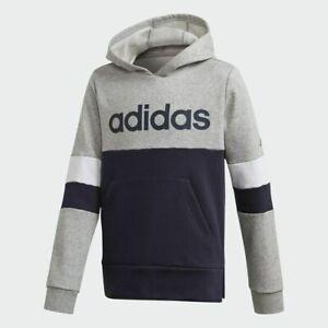 Adidas Boys Hoodie Hoody Junior Kids Fleece Top Jacket Jumper Sweatshirt Hood