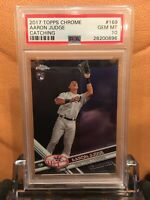 2017 TOPPS CHROME #169 AARON JUDGE CATCHING RC GEM MT 10 ROOKIE
