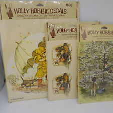 Vtg Holly Hobbie Decals Prints American Greetings Lot 3 Different Sizes Scenes