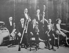 KING OLIVER & His Orchestra clipping B&W photo African-American big-band jazz
