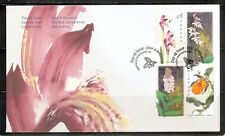 Canada Sc # 1787-1790 Paintings ( Canadian Orchids ) Fdc Cover