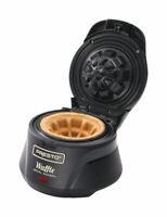 Presto  Semi-Gloss  Black  Waffle Bowl Maker  Plastic