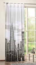Digital bedruckter Schlaufenschal New York Schal Vorhang Gardine mit BxH 120x245