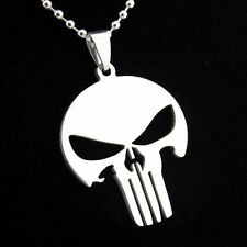 NEW Cool Unique Unisex Alloy Skull Mask Punisher Necklace Chain Jewelry Gift