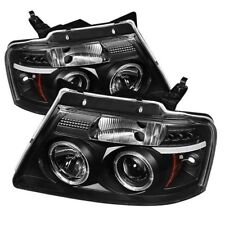 Ford 04-08 F150 Black Dual Halo LED Projector Headlights Lamp Styleside