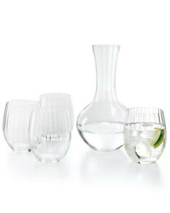 Riedel  Cold Drink Glasses, Set of 4 and Decanter $89 j