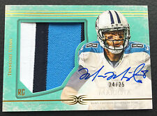 #/25 Marcus Mariota 2015 Topps Definitive Collection Green Auto Patch RC #DC-1