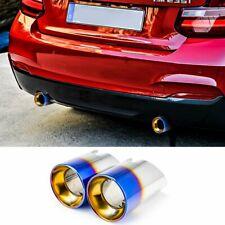 """3.5"""" Exhaust Pipes Tips for 13~20 BMW 2er F22 F23 M235i M240i B58 (Burnt Blue)"""