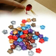 50Pcs 7 Colors Star Shaped Wax Sealing Beads For Sealing Stamp Invitation Letter