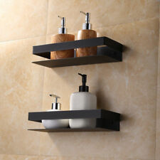 Stainless Steel Black Double Bath Shower Shelf Holder Storage Caddy Organizer