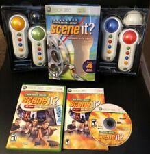 Scene It Lights, Camera, Action w/ 4 Big Button Pads & 2 Games BUNDLE Xbox 360