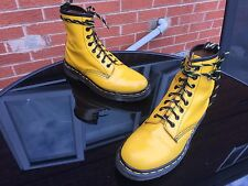 Vintage Dr Martens 1460 yellow leather boots UK 5 EU 38 England punk skin