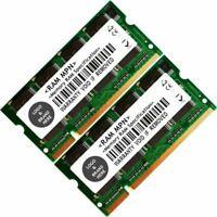 Memory Ram 4 Laptop DDR PC 2700 333 MHz 200 pin SODIMM Non-ECC CL2.5 2.5V 2x Lot