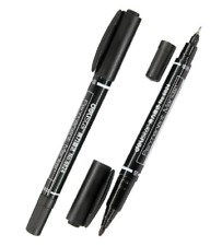 Twin Tip Permanent  Marker  DELI BLACK 6824  FINE & MEDIUM TIP cable marking