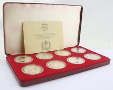1977 silver jubilee silver proof cased set 8 crown