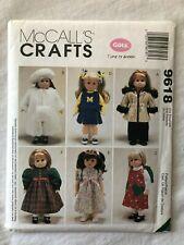 "McCall's 9618 Uncut 18"" Doll Clothes Coat Jumper Vest Hat Skirt American Girl"