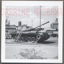 Vintage Photo M46 Walker Bulldog Army Tank JFK Playground Washington DC 713304