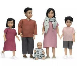 Lundby Dolls House Jamie Family Mum Dad with 2 Kids and Baby Modern People 1:18