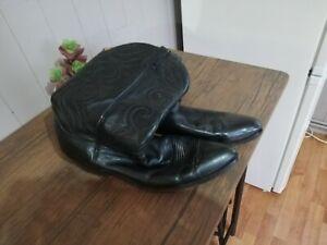 Men's Leather Cowboy Boots 12