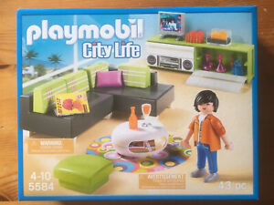 NEU! 5584  PLAYMOBIL City Life Wohnzimmer OVP NEU