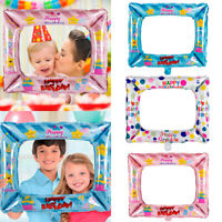 3pcs Foil Balloons Photo Frame Photo Props Kids Happy Birthday Party Decoration