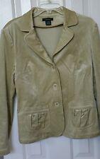 Susan Lewis Women Green Velour Velvet Jacket Blazer Large Fall Winter