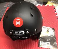 2019 Matte Black Schutt Youth Recruit Hybrid Football Helmet Medium