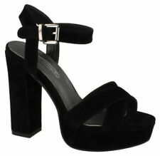 Very High (4.5 in. and Up) Block Heel Suede Heels for Women