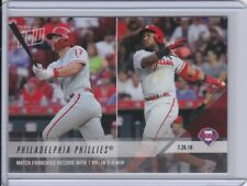 2018 Topps NOW 507 Rhys Hoskins Franco Philadelphia Phillies [7.26.18] ~ PR 404