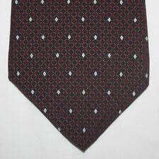 NEW DKNY Silk Neck Tie Burgundy with Silver Diamonds 417