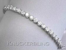 """18 Carat White Gold Fine Diamond Bracelets 7 - 7.49"""" Length"""